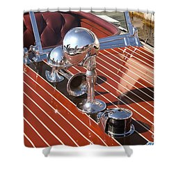 Chris Craft Custom Shower Curtain by Neil Zimmerman