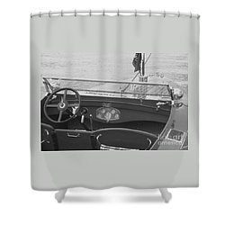 Runabout On Pewaukee Shower Curtain