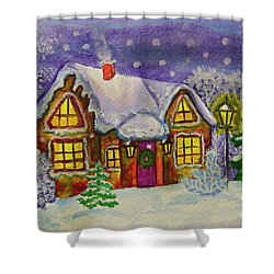 Christmas House, Painting Shower Curtain