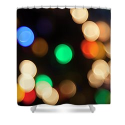 Shower Curtain featuring the photograph Christmas Lights by Susan Stone