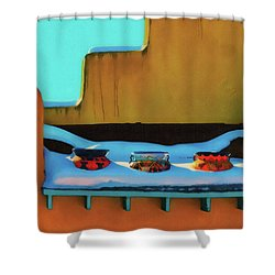 Christmas Morning Taos Shower Curtain