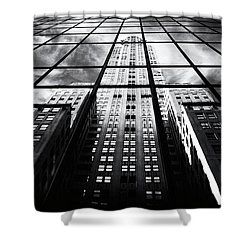 Shower Curtain featuring the photograph Chrysler Reflections by Jessica Jenney