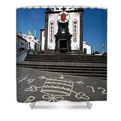 Church In The Azores Shower Curtain by Gaspar Avila