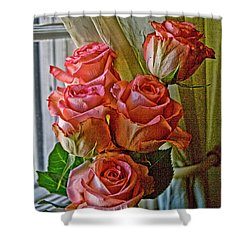 Shower Curtain featuring the photograph Cindy's Roses by Bonnie Willis
