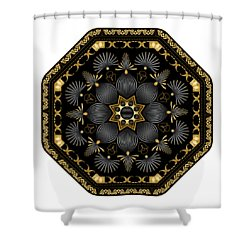 Circularium No. 2616 Shower Curtain