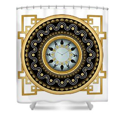 Shower Curtain featuring the digital art Circularium No 2653 by Alan Bennington