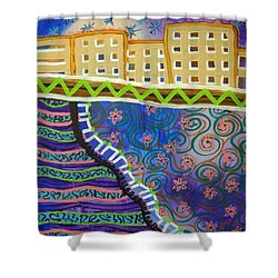 City Scape Shower Curtain