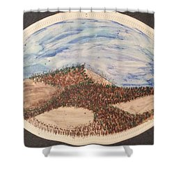 Shower Curtain featuring the painting Clear Cut by Erika Chamberlin
