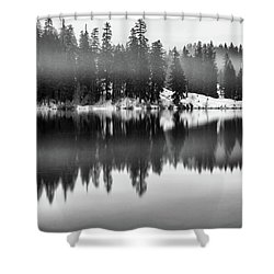 Shower Curtain featuring the photograph Clear Lake by Cat Connor