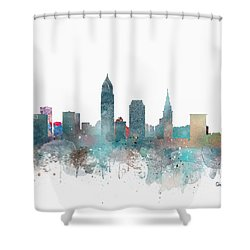 Cleveland Ohio Skyline Shower Curtain