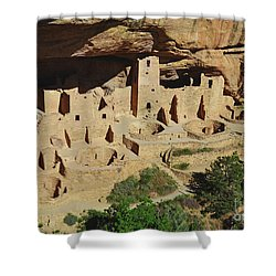 Cliff Palace Mesa Verde Shower Curtain by Debby Pueschel