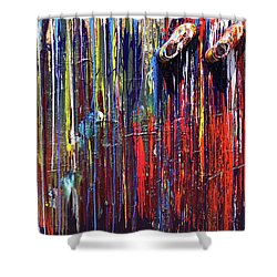 Climbing The Wall Shower Curtain