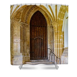 Shower Curtain featuring the photograph Cloisters, Wells Cathedral by Colin Rayner