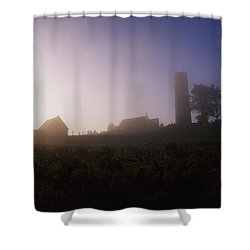 Clonmacnoise Monastery, County Offaly Shower Curtain by The Irish Image Collection