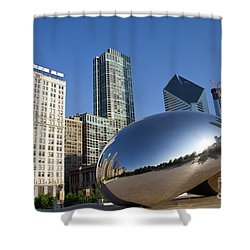 Cloudgate Reflects Shower Curtain