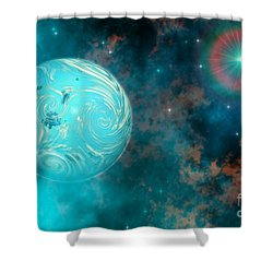 Coalescence Shower Curtain by Corey Ford