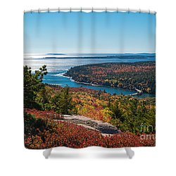 Coastline Color Shower Curtain