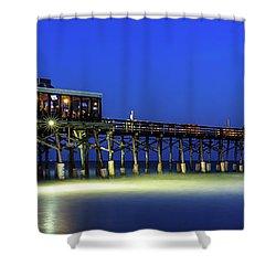 Cocoa Beach Pier At Twilight Shower Curtain