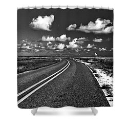 Cocodrie Highway Shower Curtain by Scott Pellegrin