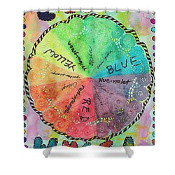 Color Wheel Shower Curtain