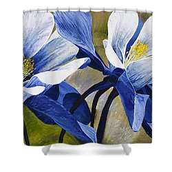Colorado Columbines Shower Curtain by Aaron Spong