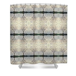 Colorado Cottonwood Tree Mirror Image  Shower Curtain