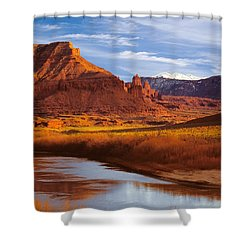 Colorado River At Fisher Towers Shower Curtain