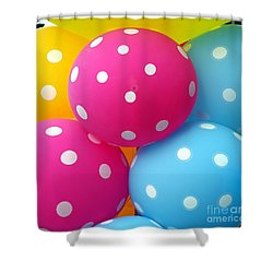 Colorful Balloons Make A Happy Mood Shower Curtain