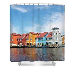 Colorful Buildings Shower Curtain