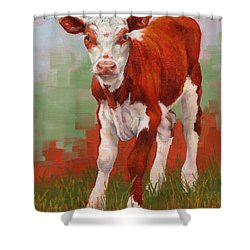 Colorful Calf Shower Curtain