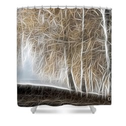 Colorful Misty Forest Shower Curtain