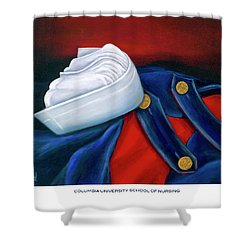 Shower Curtain featuring the painting Columbia University School Of Nursing by Marlyn Boyd