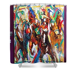 Coming Up Green Shower Curtain by Heather Roddy