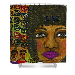 Common Threads Shower Curtain by Angela L Walker