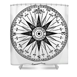 Compass Rose Shower Curtain by Granger