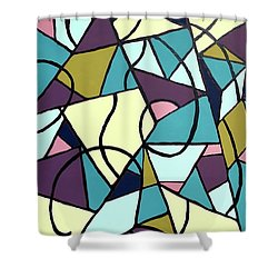 Composition #22 Shower Curtain