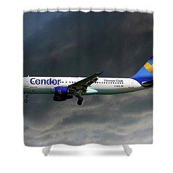 Condor Airbus A320-212 Shower Curtain