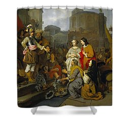Continence Of Scipio Shower Curtain by Gerbrand van den Eeckhout