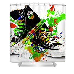 Converse All Stars Shower Curtain