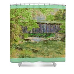 Cool And Green And Shady Shower Curtain by John Selmer Sr