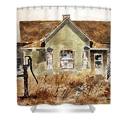 Water Pump Shower Curtain by Monte Toon