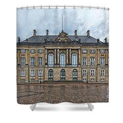 Shower Curtain featuring the photograph Copenhagen Amalienborg Palace by Antony McAulay