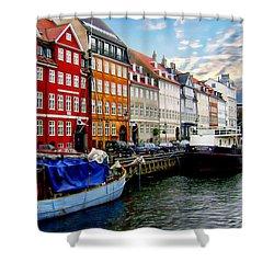 Copenhagen - Denmark Shower Curtain by Anthony Dezenzio
