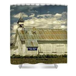 Corral School Shower Curtain