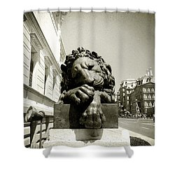 Corcoran Lion Shower Curtain