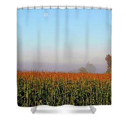 Cornfield Moonset Shower Curtain