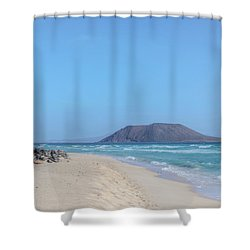 Corralejo - Fuerteventura Shower Curtain by Joana Kruse