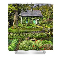 Cottage In The Green Shower Curtain