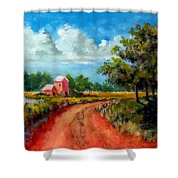Country Lane Shower Curtain by Jim Phillips