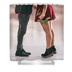 Shower Curtain featuring the photograph Couple Of Sweethearts by Carlos Caetano